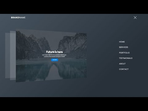 3D Navigation Bar Animation Using HTML & CSS & JavaScript (2020)