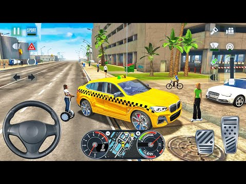 BMW X4 SUV Taxi Driving in Miami - Taxi Sim 2020 - Android Gameplay