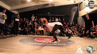 Lukas & Klesio vs Timi & Nono // .BBoy World // BREAKING 2on2 EIGHT-FINAL | RAW CIRCLES 2013