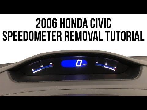 2006 Honda Civic Speedometer Removal Video