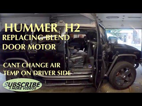 Passenger blend door actuator H2 symptoms hot air pasenger side cool