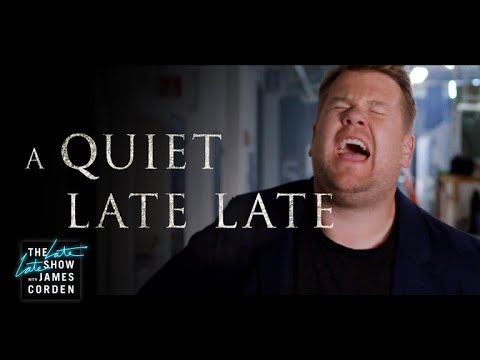 A Quiet Late Late  'A Quiet Place' Parody