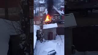 """В Твери загорелась """"Газель"""", 25.01.2019"""