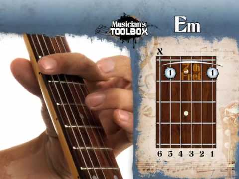 How To Play The Em Barre Chord On Guitar Em Bar Chord With The Root