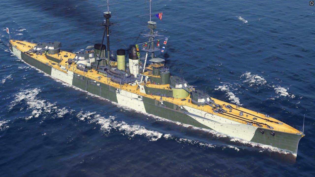 World of Warships - Ishizuchi Tier 4 Premium Japanese Battleship Overview