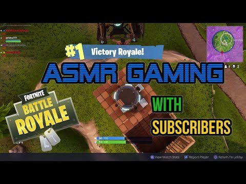 ASMR Gaming | Fortnite Battle Royale 17th Win With Subscribers! ★Controller Sounds + Whispering☆
