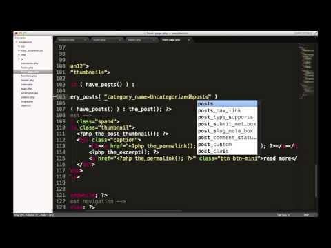 Wordpress Development Tutorials - pt 17: Query Posts