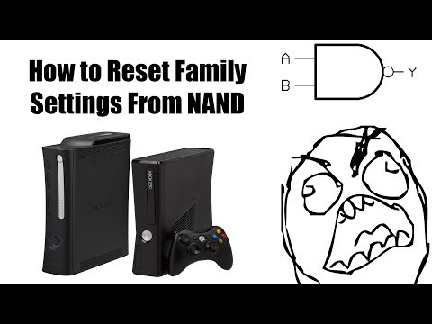 How to Bypass/Reset Family Settings From NAND (Xbox 360)