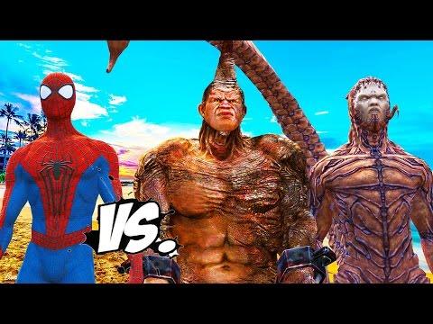 THE AMAZING SPIDER-MAN VS RHINO & SCORPION - SPIDERMAN ENEMIES VS SPIDER-MAN