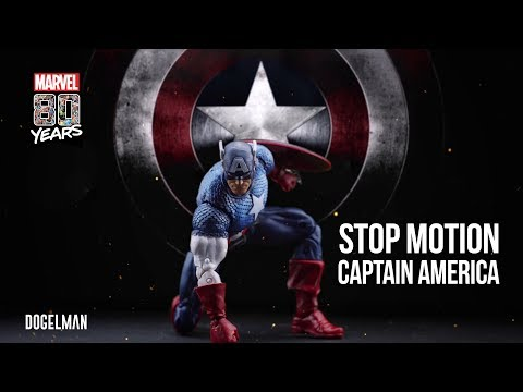 CAPTAIN AMERICA STOP MOTION - MARVEL LEGENDS - MARVEL 80 YEARS ANNIVERSARY CLASSIC - HASBRO