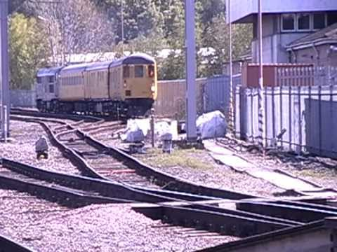 31106 departs Carlisle Station on 3Q73 Carlisle Wapping Siding - Mossend [02/05/2011]