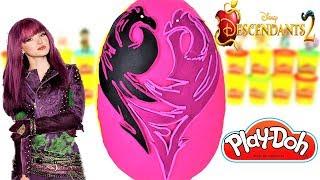 Huevo Sorpresa Gigante de Mal de Descendientes 2 La Película de Plastilina Play Doh en Español