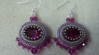 Ode to Times Past Earrings (Bead Embroidery)