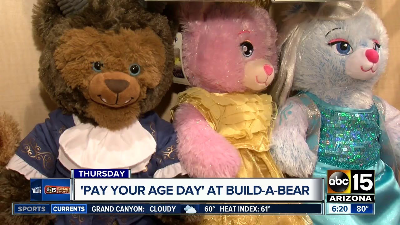 Build-A-Bear Pay Your Age Day: What to know before you go Thursday