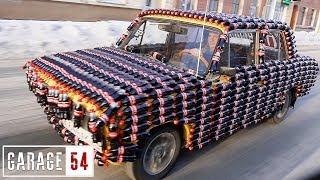 КОЛАМОБИЛЬ, 1000 БУТЫЛОК КОКА-КОЛЫ на КУЗОВ АВТОМОБИЛЯ