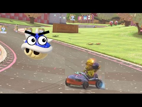 Outrunning Blue Shells in Mario Kart 8 Deluxe!