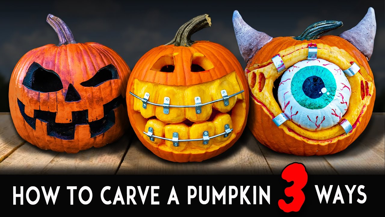 Download How To Carve Halloween Pumpkins! Scary - Silly - Traditional