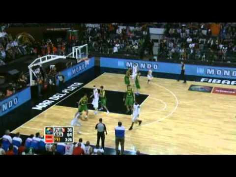Puerto Rico Vs. Brazil / 2011 FIBA Americas Championship Round 2