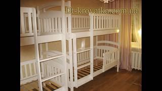 Видео-Схема сборки (как собрать) двухъярусной кровати Карина Люкс HD720 финал