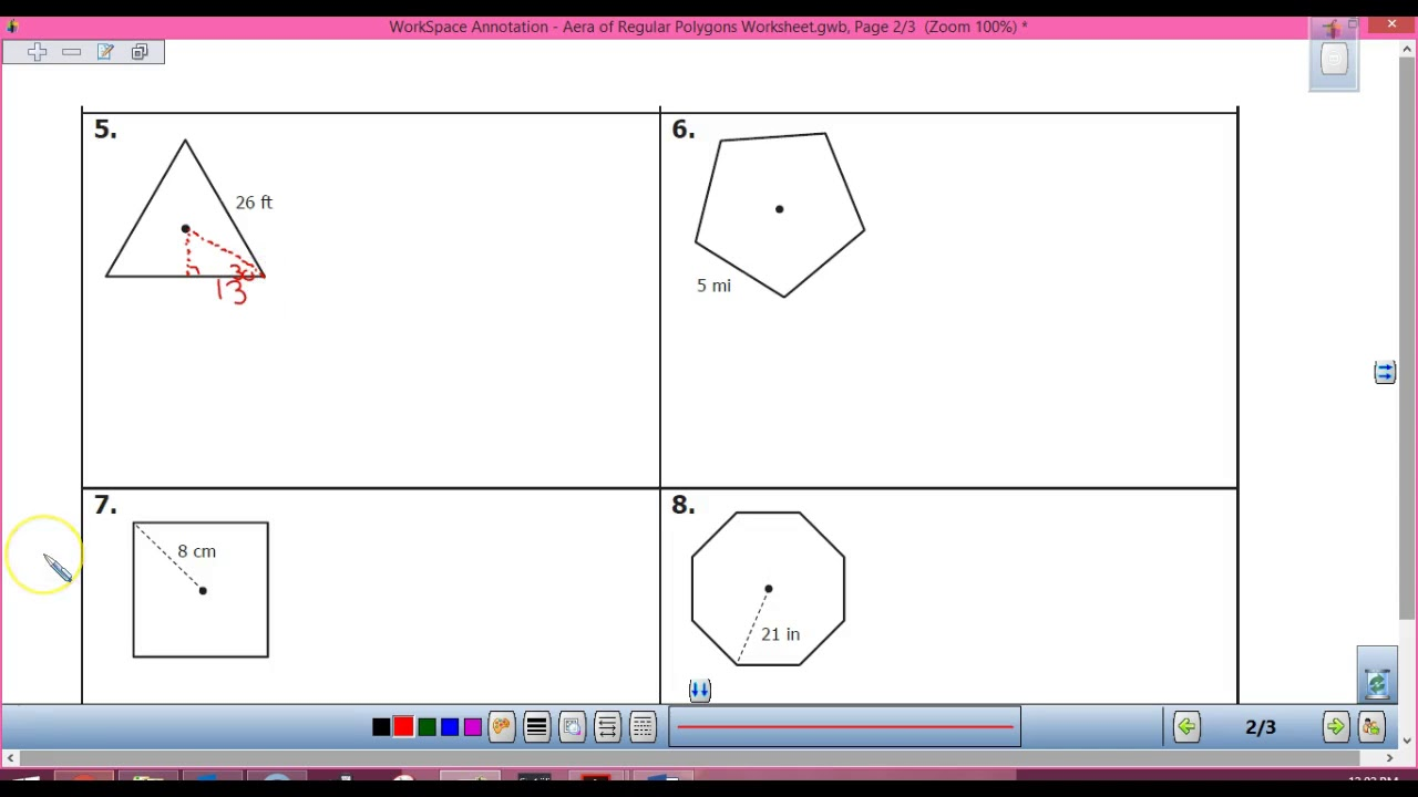 worksheet Area Of A Polygon Worksheet area of regular polygons worksheet youtube worksheet