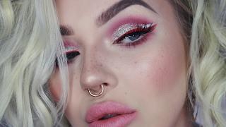 long lasting full coverage foundation | pink glitter eyes | makeup tutorial