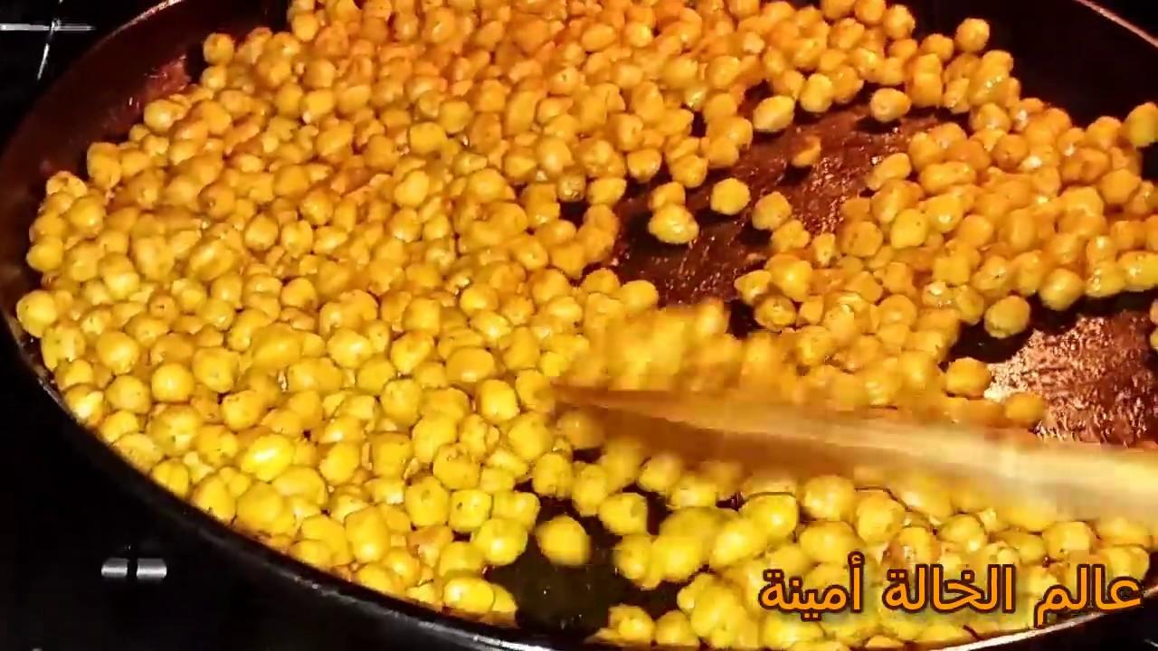 الحمص المقرمش المحمص في الفرن على الطريقة التركية للسهرة بمذاق الحار والثوم Food Vegetables