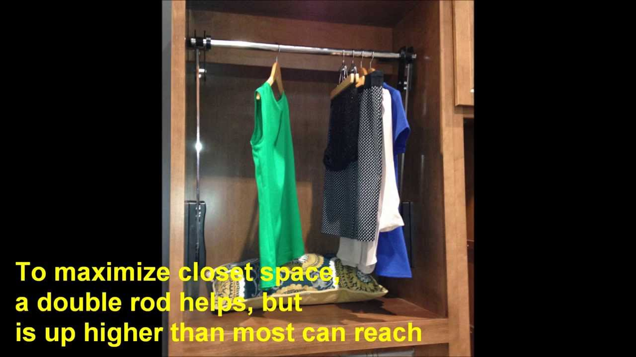 pull down closet rod closet rod pull via remote 10130