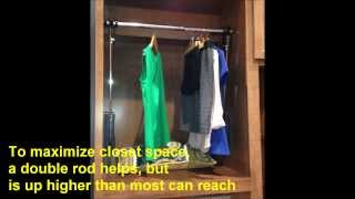 Closet Rod Pull Down Via Remote Control