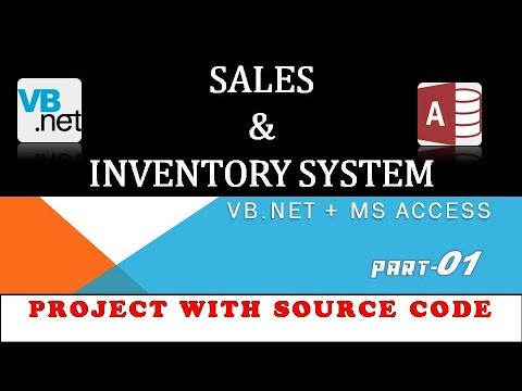01 Sale and Inventory System Project in VB.NET + MS Access
