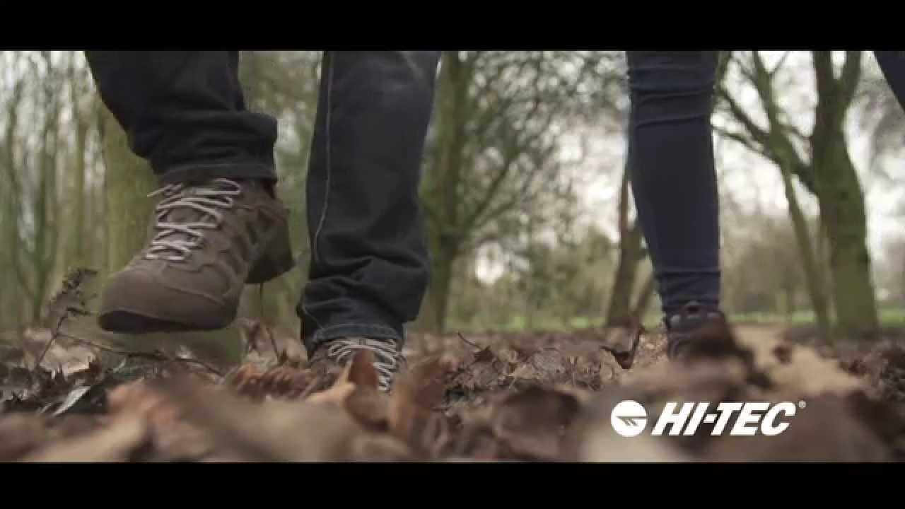 9bed6be13 Hi-Tec Penrith Mid, Low & Lux Waterproof Men's, Women's & Kids Walking  Boots and Shoes - YouTube