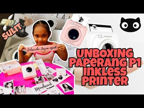 UNBOXING/REVIEW PAPERANG P1 PORTABLE INKLESS PRINTER | Philippines 2019 MINI PRINTER
