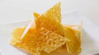 How To Make Parmesan Chips  Crisps - Video Recipe