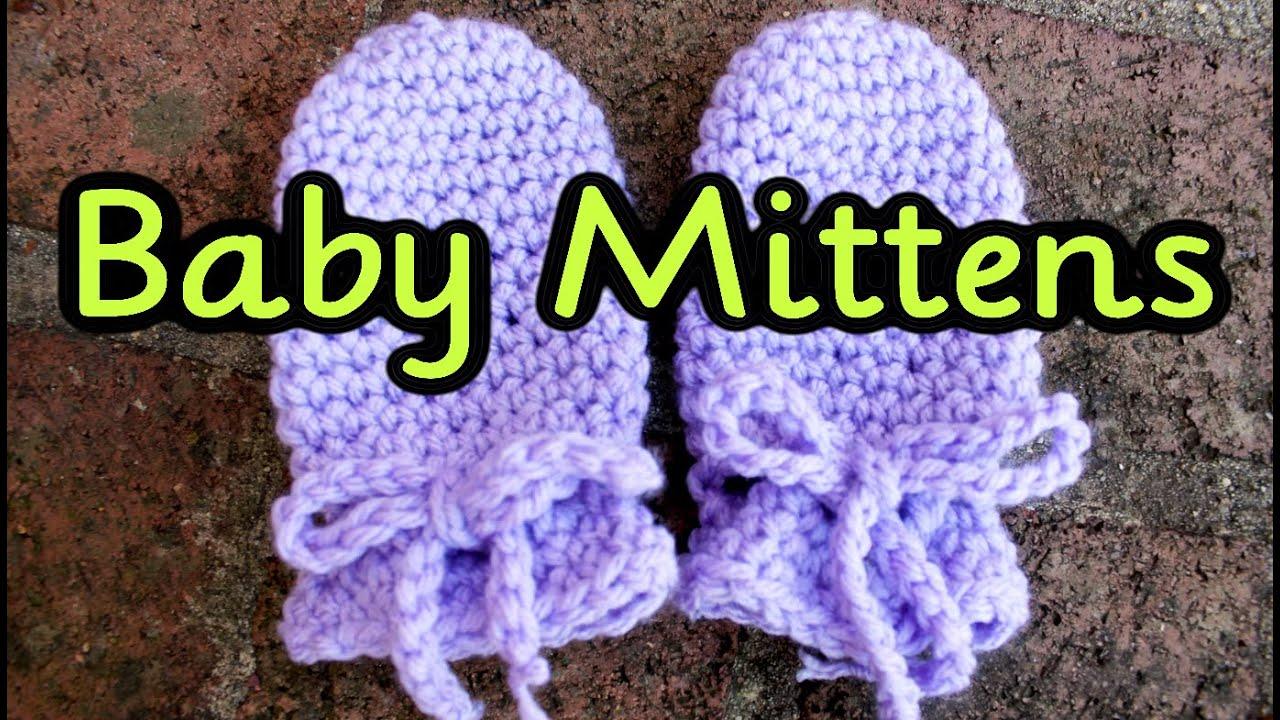 Crochet Tutorial: Easy No Seam Thumbless Baby Mittens ~ No ...