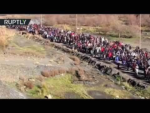 اشتباكات بين الأمن والمتظاهرين في جرادة المغربية  - 06:23-2018 / 3 / 15