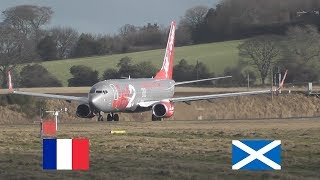 French Rugby Team departing on Jet2 737-800 at Edinburgh Airport