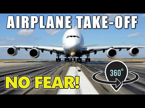 Airplane Take-Off: 360 VIDEO