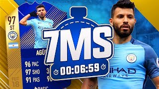 97 TOTS AGUERO 7 MINUTE SQUAD BUILDER!! DUAL YOUTUBER!! - FIFA 18 ULTIMATE TEAM
