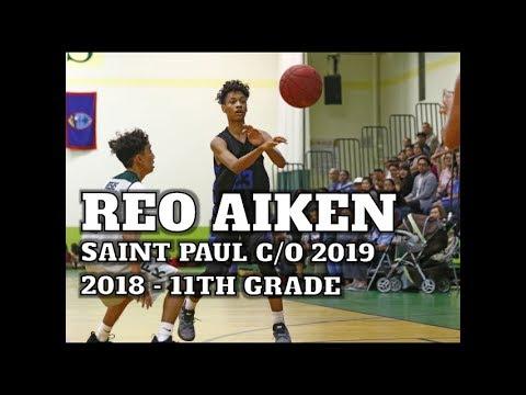 """Reo Aiken 6'2"""", 2nd Team All-Island  - Junior Year HS Basketball Highlight 2018"""