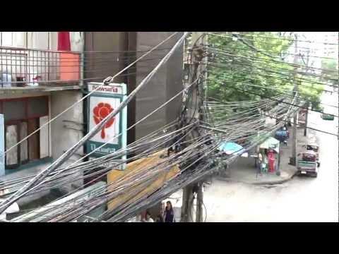 Bangkok electric wires mess