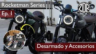 🛠📝 DESARMADO Y ACCESORIOS (Unboxing) | Rocketman Series Ep. 1 | CAFE RACER y SCRAMBLER