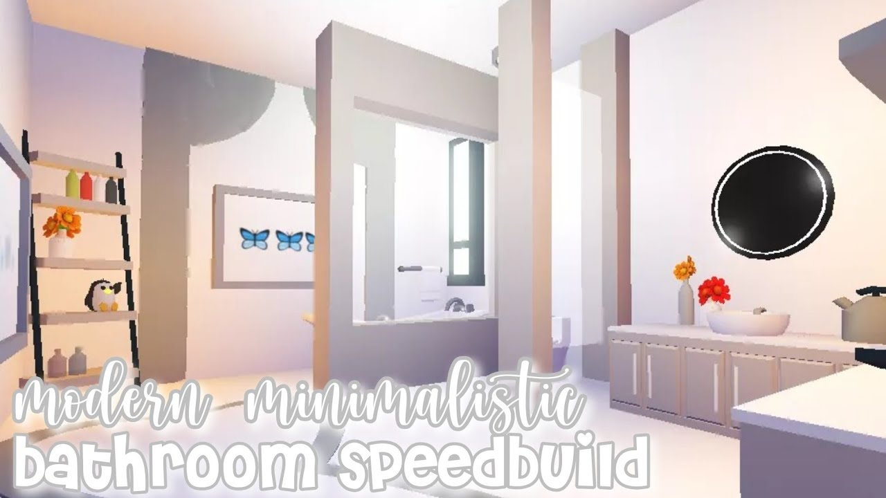 Modern Minimalistic Futuristic House Bathroom Speed Build Roblox Adopt Me Youtube