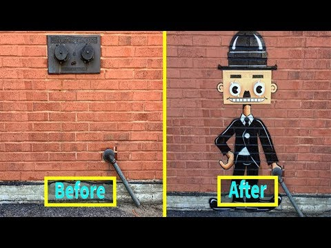 Most Creative Before and After Street Art Transformations