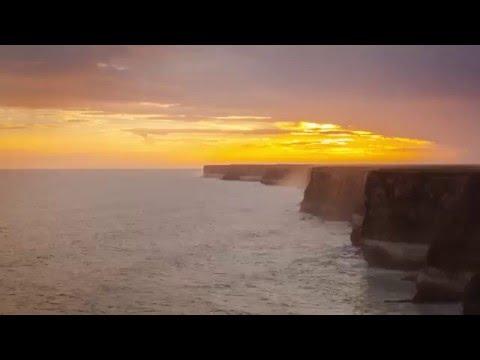 Great Australian Bight   Bunda Cliffs - Time Lapse