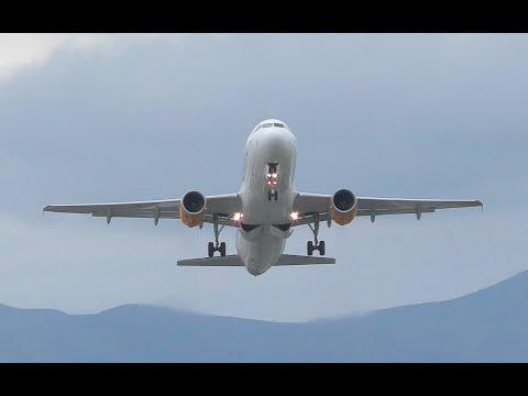 Condor Airbus A320 Overhead Takeoff from Corfu CFU