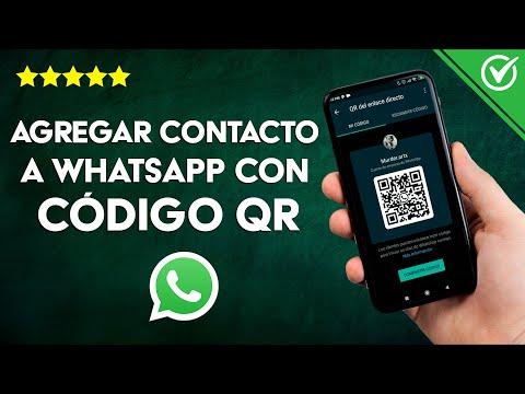 Cómo Agregar un Número de Contacto Nuevo a WhatsApp de otro país, con Código QR