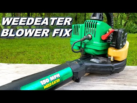 Fixing a weedeater leaf blower that won't start.