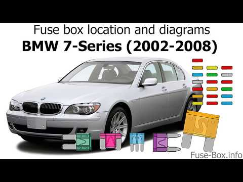 Fuse box location and diagrams: BMW 7-Series (2002-2008) - YouTube