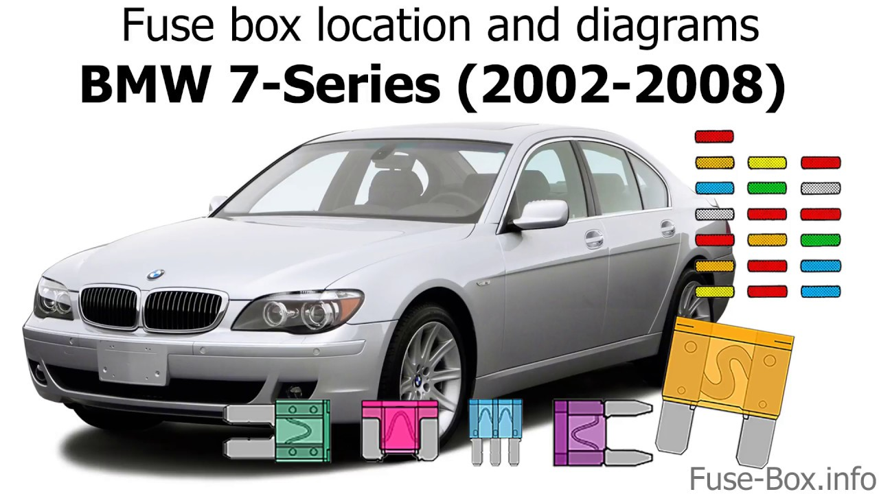 fuse box location and diagrams: bmw 7-series (2002-2008)