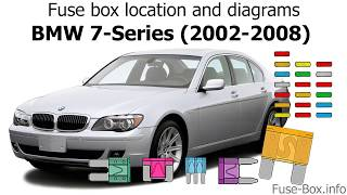 Fuse box location and diagrams: BMW 7-Series (2002-2008) - YouTubeYouTube
