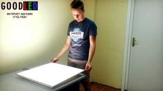 как собрать алюминиевый потолок видео